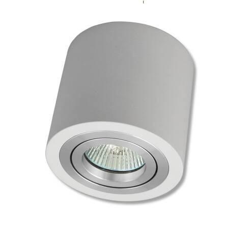 Oprawa Ruchoma Natynkowa Okrągła Biała Pierścień Aluminium