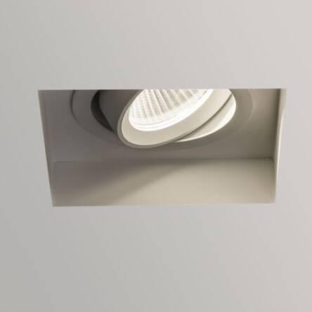 Lampa Sufitowa Wpuszczana Trimless Square Led Adjustable Astro 5699 Led Biały Gipis Regulowany Pierścień Kwadrat