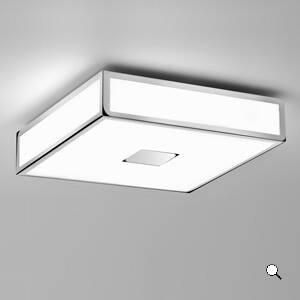 Plafon Lampa Sufitowa Mashiko 300 0681 Chromowane Wykończenie Prostokątny Nowoczesny łazienkowy