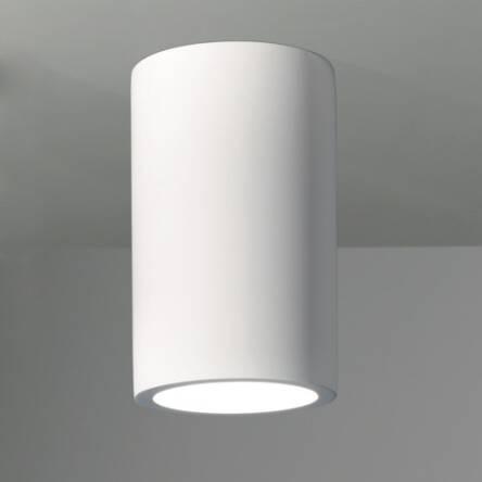 Lampa sufitowa natynkowa plafon Osca 200 Round Astro 7011 biała okrągła tuba biały gips