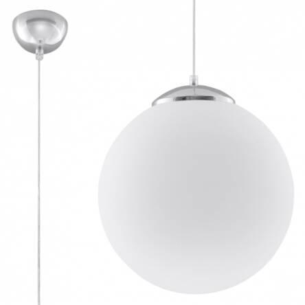 Lampa Wisząca Biała Kula Ugo 40 Led Sl0265 Nowoczesna Klosz Z