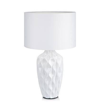 Lampa Stołowa Skandynawski Biały Ceramiczna 1 Pł Stephanie Markslojd